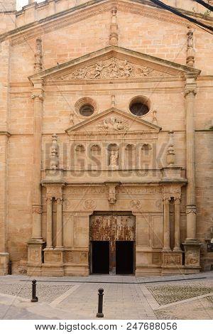 La Asuncion church of Cretas, Teruel province, Aragon, Spain poster