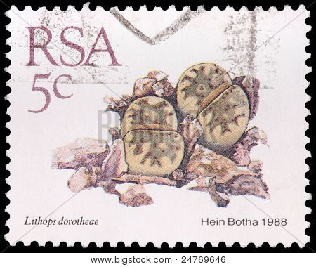A 5-cent Stamp Printed In South Africa