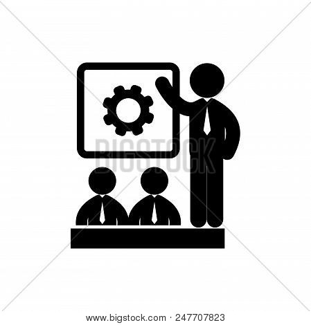 Business People Meeting Vector Icon Flat Style Illustration For Web, Mobile, Logo, Application And G