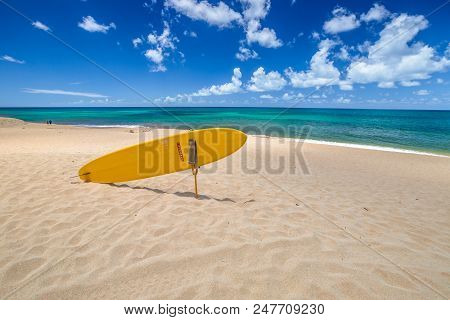 Sunset Beach, North Shore, Oahu, Hawaii. Sunset Beach Is Home To The Prestigious Surfing In The Worl