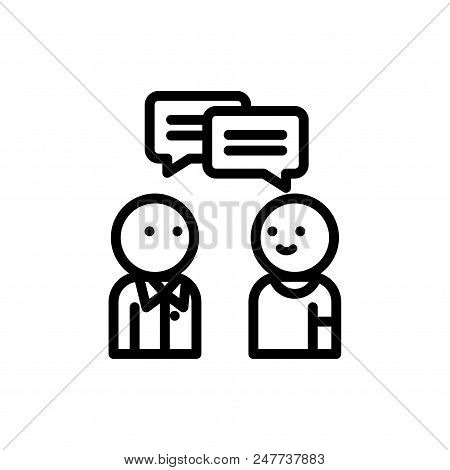 Conversation Vector Icon Flat Style Illustration For Web, Mobile, Logo, Application And Graphic Desi