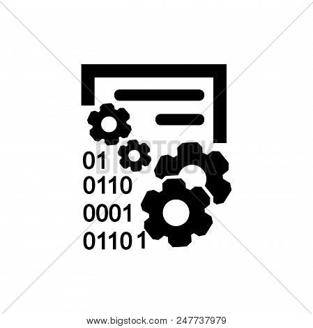 Data Management Vector Icon Flat Style Illustration For Web, Mobile, Logo, Application And Graphic D