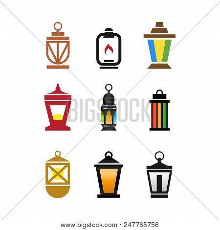 Collection Of Fanoos Lantern Graphic Design Vector