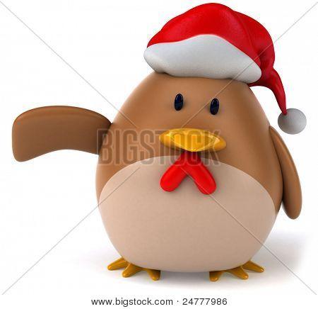 Santa chicken