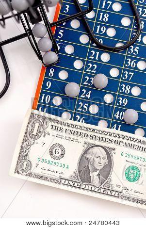 Dollar On Lottery Ball Sheet