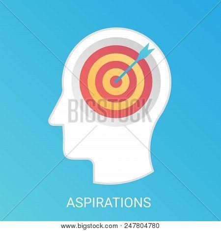 Vector Aspiration Concept. Modern Gradient Flat Style