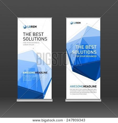 Roll Banner Design Vector Photo Free Trial Bigstock