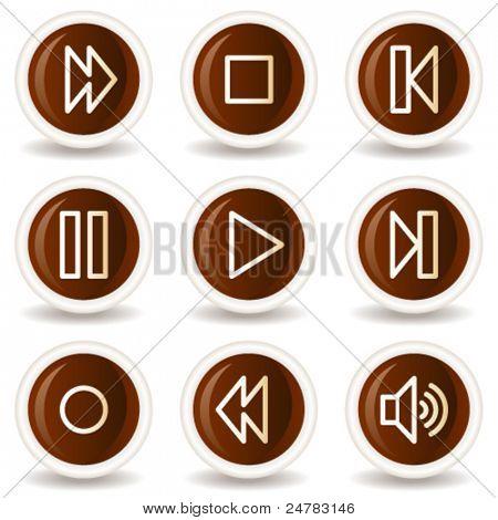 Walkman web icons, chocolate buttons