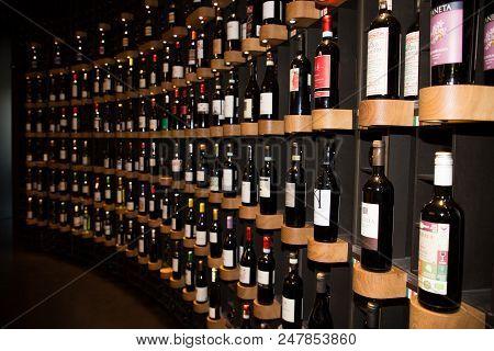 Bordeaux, Nouvelle Aquitaine / France - 06 20 2018 : Cite Du Vin Modern, Stylish Space Open To All,