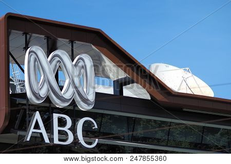 Melbourne, Australia - December 13, 2017: Logo And Wordmark Of The Australian Broadcasting Corporati