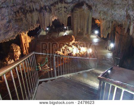 Bellamar Caves Lighted Entrance Stairway