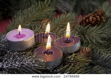 tea light advent candles