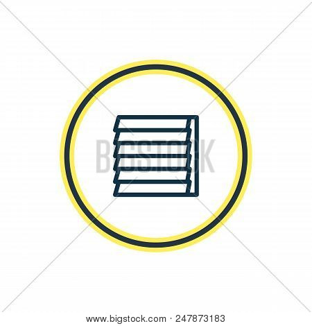 Vector Illustration Of Siding Icon Line. Beautiful Architecture Element Also Can Be Used As Jalousie