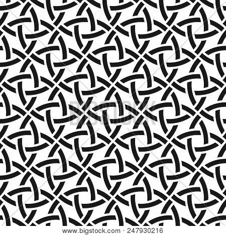 Celtic Monochrome Seamless Pattern. Vector Illustration - Eps 8