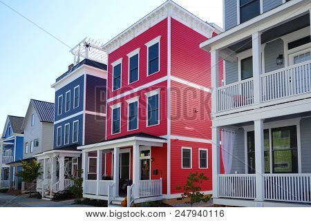 Colorful New Homes In Raleigh North Carolina