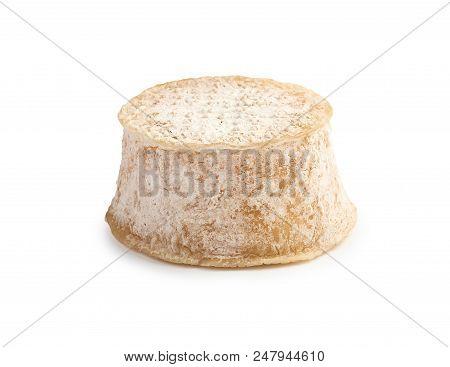 Crottin Chavignol Cheese Isolated On White Background