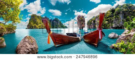 Scenery Thailand Sea And Island .adventures And Travel Concept.scenic Landscape.phuket Seascape