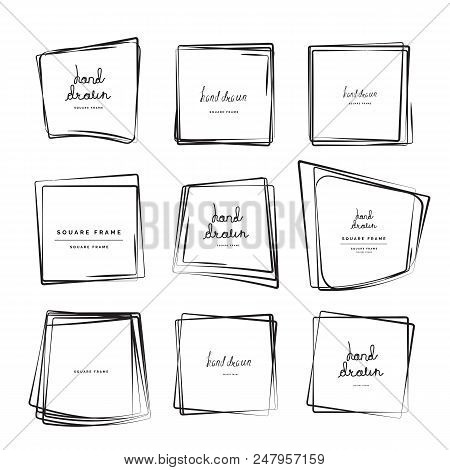 Hand Drawn Square Frames