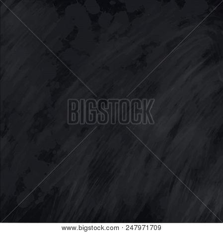 Blackboard Chalkboard Texture. Empty Blank Black Chalk Background With Chalk Traces. Vector Illustra