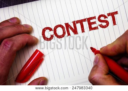 Conceptual Hand Writing Showing Contest. Business Photo Showcasing Game Tournament Competition Event