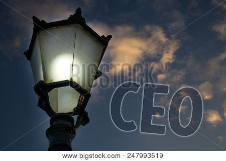 Conceptual Hand Writing Showing Ceo. Business Photo Showcasing Chief Executive Officer Head Boss Cha