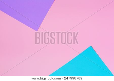Soft Pink, Blue And Purple Background. Colorful Texture. Minimal Concept. Creative Concept. Pop Art.