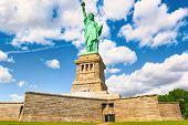 Statue of Liberty (Liberty Enlightening the world) near New York and Manhattan. USA. poster