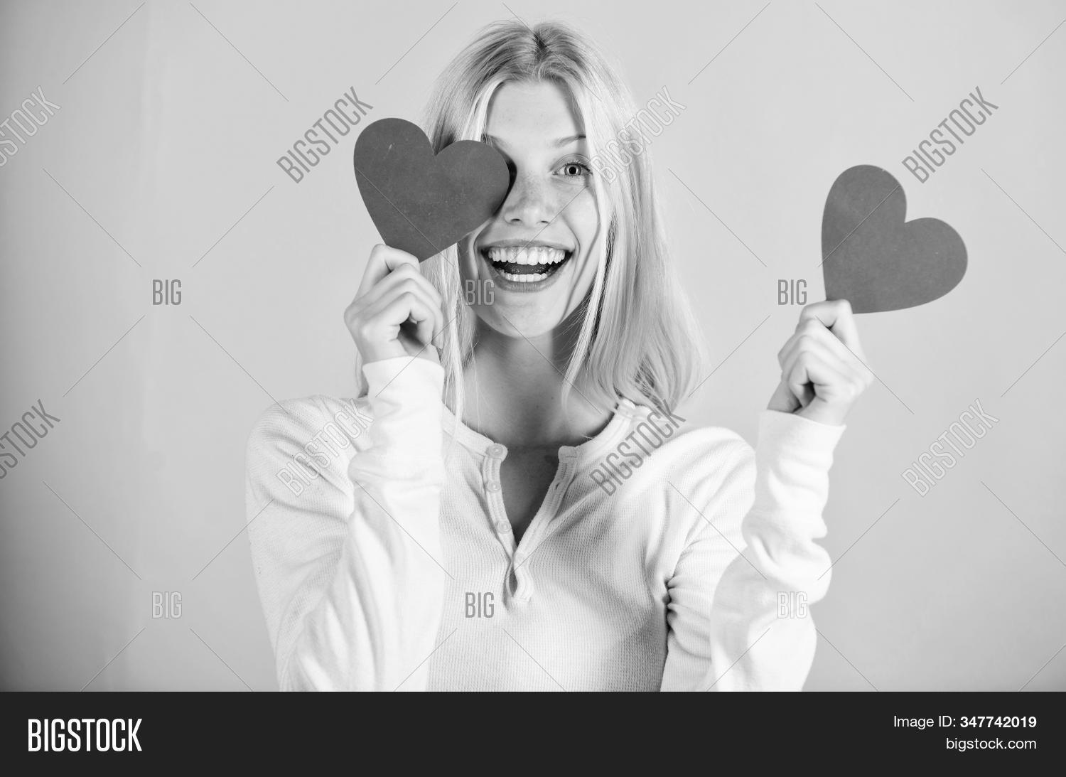 Girl Hold Heart Symbol Image Photo Free Trial Bigstock