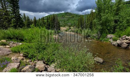 Provo river in Uinta Wasatch national forest