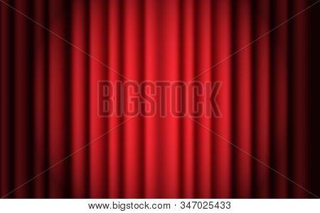 Luxury Scarlet Red Silk Velvet Curtains And Draperies Interior Decoration Design. Luxurious Indoor R