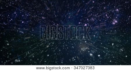 Black Space With A Lot Of Stars On Background