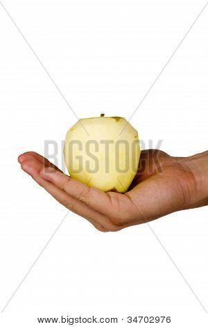 Peeled Fuji Apple