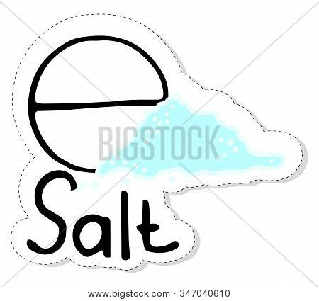 Alchemical Element Salt. Medieval Alchemical Sign. The Sticker Is Drawn By Hand. Flat Illustration O