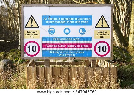 Construction Building Site Safety Sign Board Uk