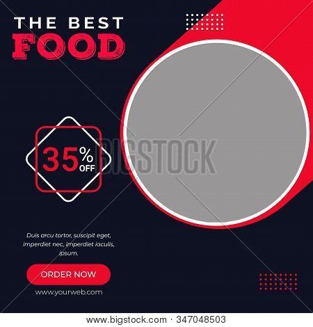 Food social media post template, Super food vector social media post template, Delicious Food Social media post Design template for vector illustration Eps 10.