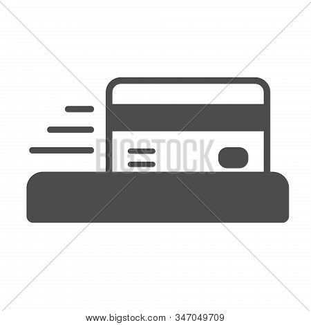 Credit Card Payment Terminal Icon Isolated On White Background. Credit Card Flat Icon For Web, Mobil