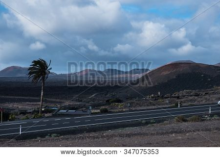 Volcanic Lanzarote Landscape. Lanzarote. Canary Islands. Spain