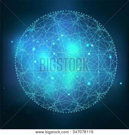 Mystical Sacred Geometry Vector Symbol. Spirituality, Harmony Concept