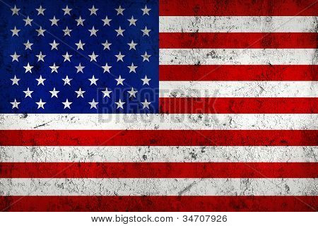 Grunge Dirty And Weathered Usa (american) Flag