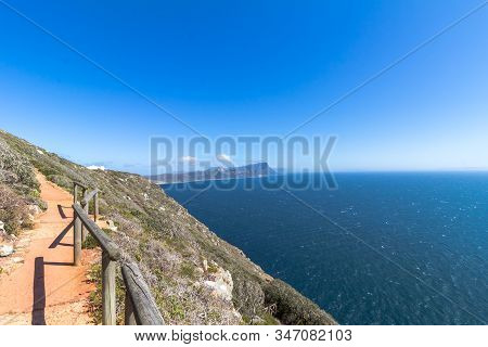 Cape Point Walkway From The Point Back To Old Lighthouse With View Of The Cape Peninsula - Near Cape