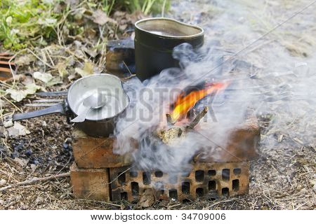 Campfire In Camping