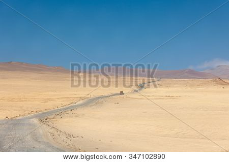Paracas National Reserve, Desert In The Road