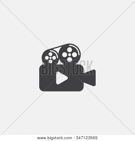 Video Recorder Icon Vector Illustration, Camera Movie Icon, Video Sign, Cinema Symbol, Video Camera