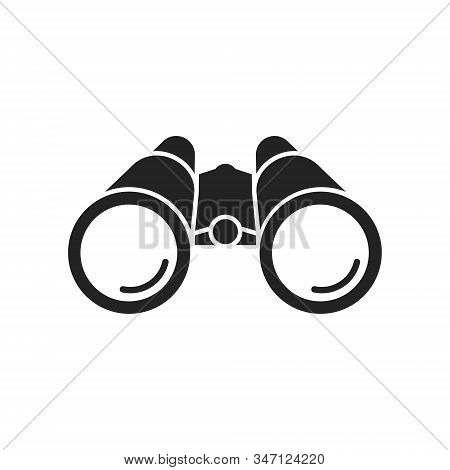 Vector Illstration Of Binoculars Icon. Flat Design. Isolated.