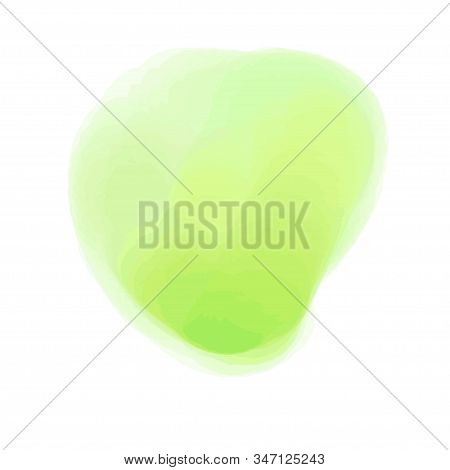 Colorful Spot On Isolated White Background. Colored Artistic Spot. Hand Drawn Watercolor Splotch