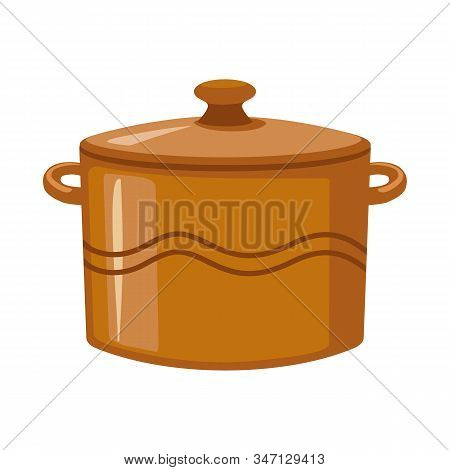 Vector Design Of Crockery And Clean Logo. Graphic Of Crockery And Ceramic Vector Icon For Stock.