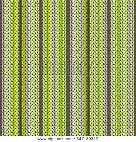 Woolen Vertical Stripes Knit Texture Geometric Seamless Pattern. Plaid Hosiery Textile Print. Tradit