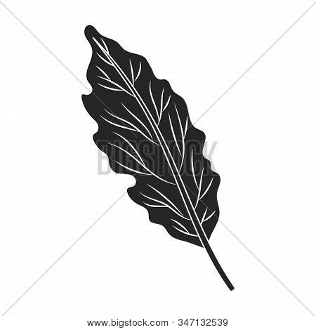 Leaf Of Cabbage Vector Icon.black, Simple Vector Icon Isolated On White Background Leaf Of Cabbage .