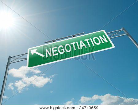 Negotiation Concept.