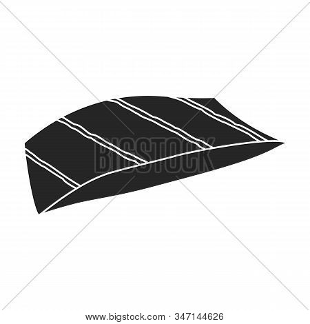 Piece Fish Vector Icon.black, Simple Vector Icon Isolated On White Background Piece Fish.